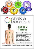 Full Set Of Chakra Tattoos Set of 7 tattoos – 1 of each chakra – $20